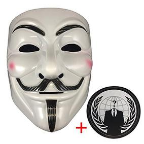 Máscara Anónima Plus Etiqueta, Guy Fawkes V De Vendetta, Más