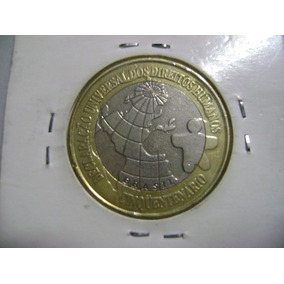 Mr10003b Brasil Moeda 1 Real 1998 Dh Direitos Humanos