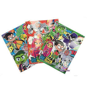 Libro Para Colorear Jóvenes Titanes Teen Titans Go T. Carta