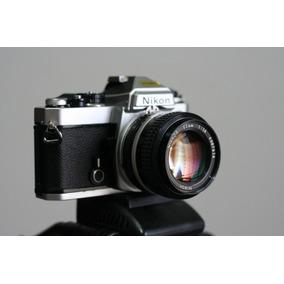 Camera Nikon Fe Revisada Como Nova E Lente 50mm 1.4