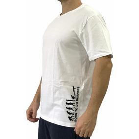 b0518857d Camiseta Masculina T-shirt Branca Lateral Born To Burpee
