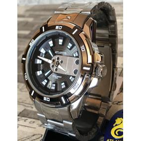 Relógio Masculino Exclusive Atlantis Original Dourado + Caix