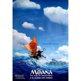 Cartaz De Cinema Original - Moana Um Mar De Aventuras - Disn