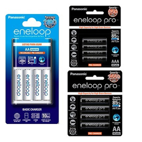 Cargador Y Baterías Recargable Eneloop Y Pro Panasonic Aa Y