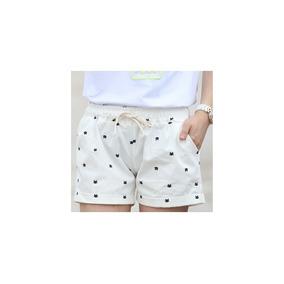 Short Blanco Shorts Mujer Bermuda Ropa Mujer