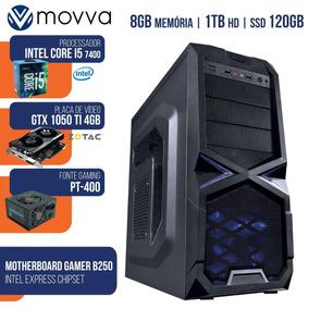 Cpu Gamer Mvx5 Intel I5 7400 3.0ghz 7ª Me 8gb Hd 1tb Ssd 120