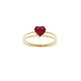 390a81b760dac Anel Ouro 18k 750 Feminino Solitário Pedra Zircônia Coração - R  168,14 em  Mercado Livre