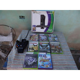 Xbox 360 4gb Sensor Kinect +8 Juegos Originales+2 Controles