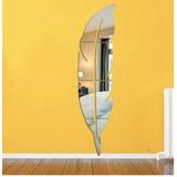 Espejo Decorativo Acrílico Tamaño Grande Forma De Hoja