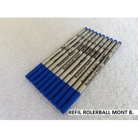 Kit 9 Refil Carga Rolerball Azul Média P Mont Blanc Orig