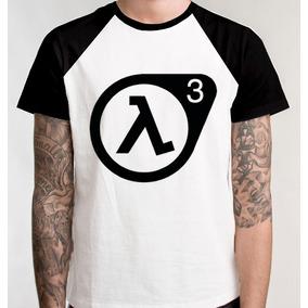 Camiseta Raglan Half Life3 Prélançamento Blusa Camisa Jogo f85a450ddd23d