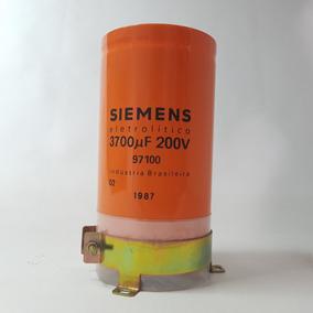 Capacitor Eletrolítico Siemens De 3700uf 200v Potencia