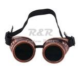 Óculos Motociclista Estilo Soldador Gótico Vintage - Cobre 6fde55fa24