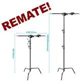 Remate C Stand Trabajo Rudo Fotografía Soporte Para Softbox