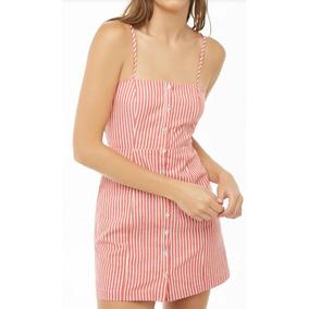 Vestido Evasê Curto De Alcinhas Com Botoes Frontal Blusa