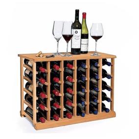 Adega 30 Garrafas Vinho Madeira Maciça