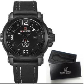 Relógio Masculino Militar Esportivo Naviforce Pulseira Couro 5f1aa118ba