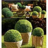 Topiario 30cm Esfera Verde Bola Follaje Sintético Decoración