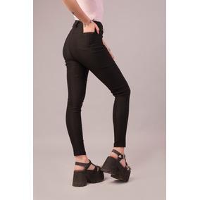 Pack 5 Pantalon Vestir Bengalina Chupin Elastizado Tiro Alto 6441a3786025