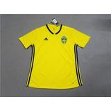Camisa Suécia 2018 - Camisa Masculina de Seleções de Futebol no ... 3ace5c897fbc7
