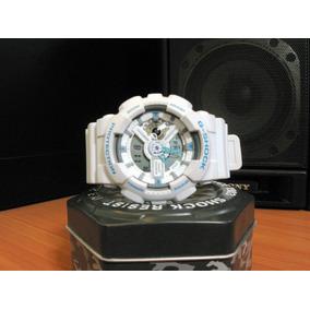 cd7901cd4d0 Reloj Casio G-shock Ga110 Blanco Militar Digital Analógico