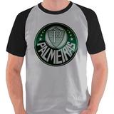Camiseta Palmeiras Time Futebol Logo Camisa Blusa Raglan