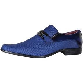 Sapato Social Masculino Gofer Blog Gota Azul 0556/pu