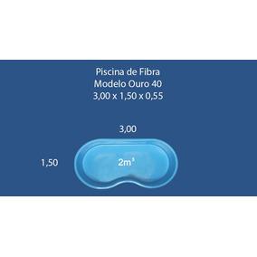 Piscina De Fibra Feijão Infantil 2.000 Litros Completa