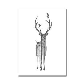 Pintura Imagem De Cervo Para Moldura 21cm X 30cm Decoração