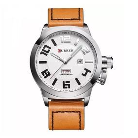 Relógio Masculino De Couro,curren 8270 De Luxo, Frete Grátis