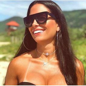 3db22d020e1e2 Óculos Solar Feminino Luxuoso Chique Grande Executiva Social