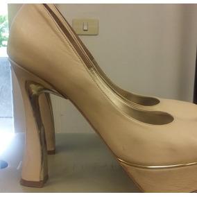 Zapatos Stilettos De Cuero Color Nude - Stilletos de Mujer en ... a5b9d5678d2f