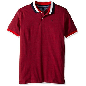 Tommy Hilfiger - Camisa Polo, Varones, Rojo Real, X-large