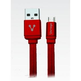 Cable Usb Vorago - Rojo, 1 M, Macho / Macho, Usb 2.0, Micro