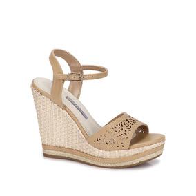 ce8bda508 Sapato Anabela Nude Via Marte - Sapatos no Mercado Livre Brasil