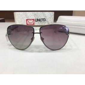 Óculos De Sol Ecko   Eck 82236 63 10 140 Branco Lente Roxa 9613d16c6d