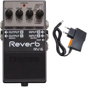 Pedal Boss Rv 6 Reverb Rv6 + Fonte Oferta Loja Kadu Som