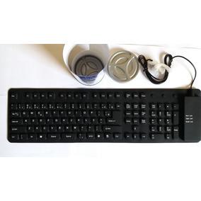 Teclado Keyboard Flexível De Silicone Usb
