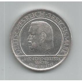 Moeda Prata Alemanha/weimar - 3 Reichsmark - 1929g - Rara