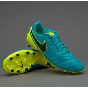 8dc90c0a90 Chuteira Nike Tiempo Branca E Verde Limao - Chuteiras de Campo para ...