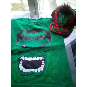 Playera Y Gorra De Hulk.oferta Especial !!!