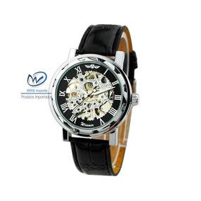 655921f0d4a Relógio De Pulso Mecânico Prateado. Engrenagens Winner - Relógios De ...