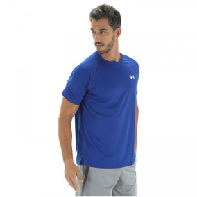 Camiseta Under Armour Tech - Masculina - Cor Azul branco 4b3f690819324