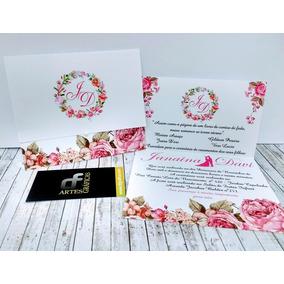 80 Convites 15 Anos / Casamento / Noivado / Aniversário