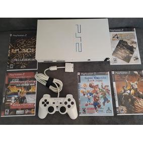 Playstation 2 Fat Branco Desbloqueado Completo Muito Barato