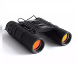 Binocular Compacto Tipo Tejado Negro 12x25 Wallis