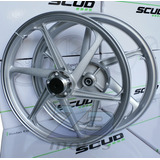 Roda Liga Leve Scud Honda Titan 150 6p Disco 2004/13 Prata