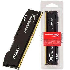 Memória Ram Kingston Hyperx Fury 8gb Ddr4 2400mhz C/ Nfe