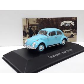 Miniatura Fusca 1961 1/43 Azul Inesqueciveis Do Brasil