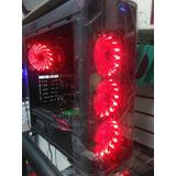 Case Atx Gamer Gamemax Kinglite Led Blanco,rojo,azul